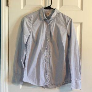 J Crew pin striped button up shirt